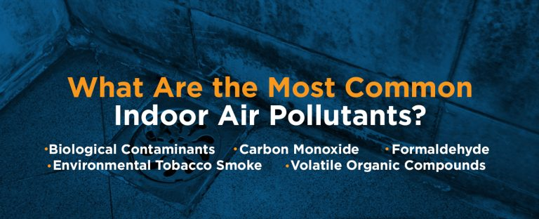 The most common indoor air pollutants are biological contaminants, carbon monoxide, formaldehyde, tobacco smoke and volatile organic compounds