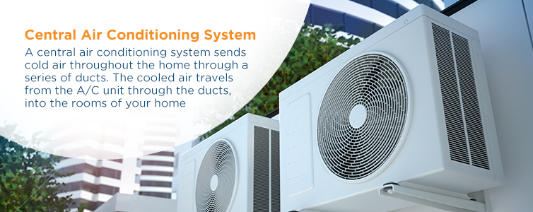 Central air conditioning systems send cold air throughout a home through a series of ducts
